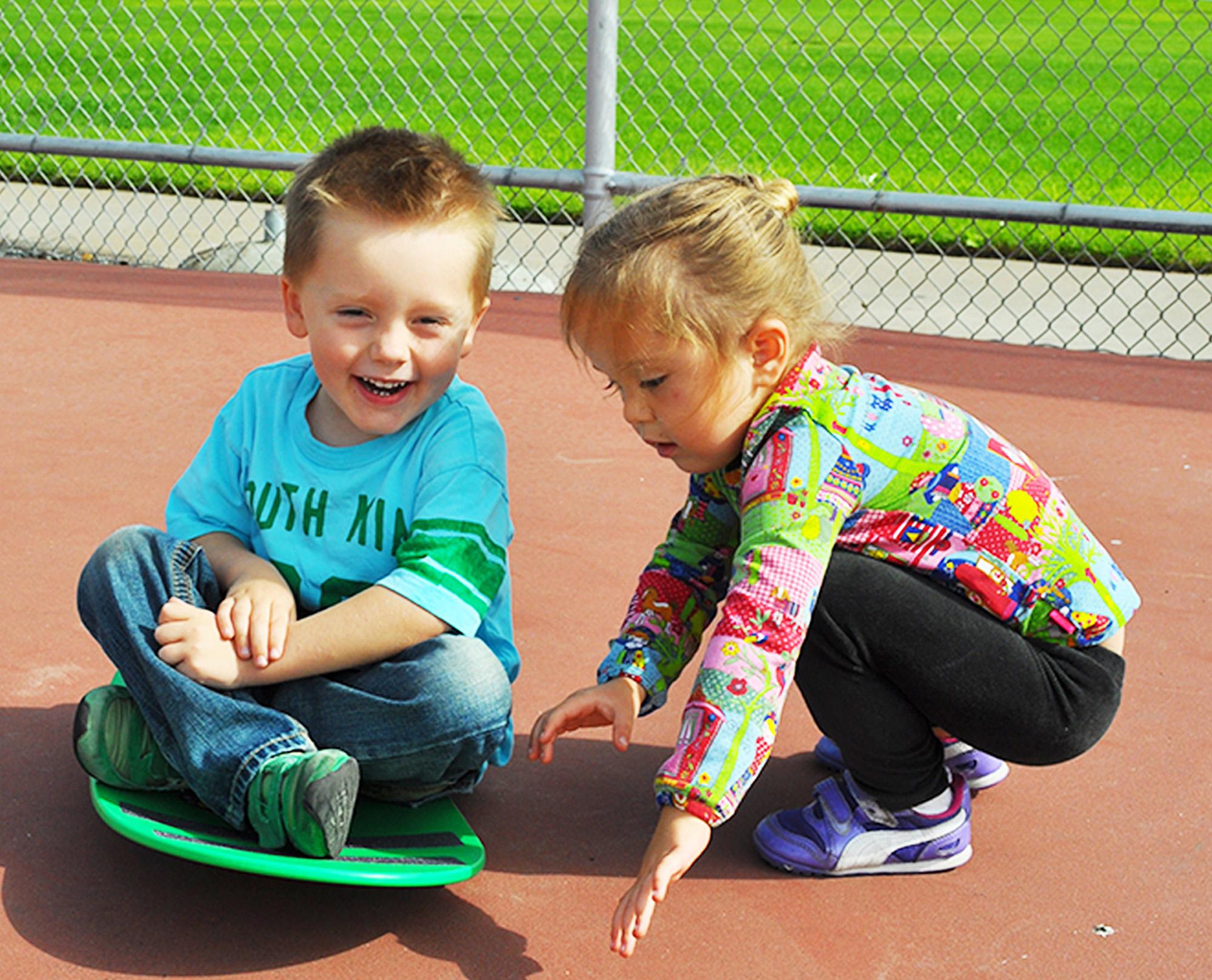 Friend helping friend Spooner Trick Sit n spin